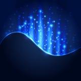 Abstrakt bakgrund för strömkretsteknologi, vektorillustration Royaltyfria Foton