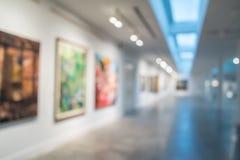 Abstrakt bakgrund för suddighetssamtida konstgalleri arkivbild