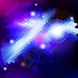 Abstrakt bakgrund för teknologi för blåttlinssignalljus. Royaltyfri Foto