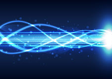 Abstrakt bakgrund för teknologi för ljus energi, vektorillustration Royaltyfri Bild