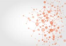 Abstrakt bakgrund för teknologi för nätverksanslutning illustration Arkivfoto