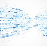 Abstrakt bakgrund för teknologiaffärsmall Arkivbilder