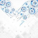 Abstrakt bakgrund för teknologiaffärsmall Royaltyfria Foton