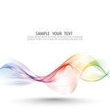 Abstrakt bakgrund för vågvektorn, den vinkade regnbågen fodrar för broschyren, websiten, reklambladdesign Spektrumvågfärg rökigt royaltyfri illustrationer