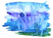 Abstrakt bakgrund för vattenfärg royaltyfria bilder