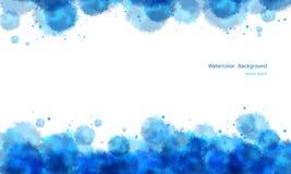 Abstrakt bakgrund för vattenfärg. Arkivbild