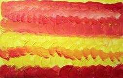 Abstrakt bakgrund för vattenfärg med orange och gula runda borsteslaglängder vektor illustrationer