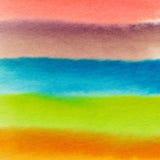 Abstrakt bakgrund för vattenfärg Ny färgrik bakgrund Arkivbilder