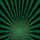 Abstrakt bakgrund för vektor av den gröna stjärnabristningen. Arkivfoton