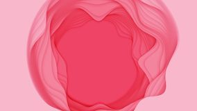 Abstrakt bakgrund för vektor 3D med pappers- klippt form Färgrik röd snida konst För antilopkanjon för pappers- hantverk landskap stock illustrationer