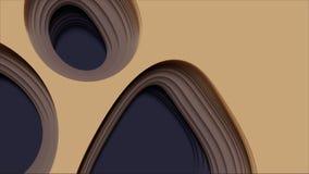 Abstrakt bakgrund för vektor 3D med pappers- klippt form Färgrik snida konst För antilopkanjon för pappers- hantverk landskap med royaltyfri illustrationer