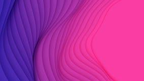 Abstrakt bakgrund för vektor 3D med pappers- klippt neonform Färgrik snida konst För antilopkanjon för pappers- hantverk landskap royaltyfri illustrationer