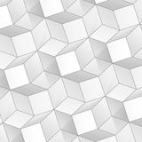Abstrakt bakgrund för vektor med volymkuber Royaltyfria Bilder