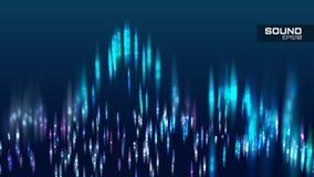 Abstrakt bakgrund för vektor för solid våg Trimma spektrumsoundwave Royaltyfri Bild