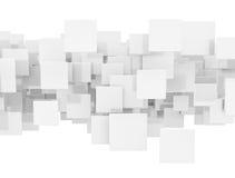Abstrakt bakgrund för vit fyrkant vektor illustrationer