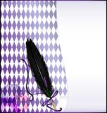Abstrakt bakgrund för vit med fjäderpennan Royaltyfri Fotografi