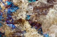 Abstrakt bakgrund från en metallmineral Royaltyfria Foton