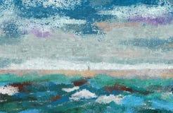 Abstrakt bakgrund för kust Arkivfoto