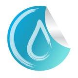 abstrakt bakgrund för logo för eco för klistermärke för vektorvattendroppe Royaltyfria Bilder