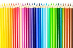 Abstrakt bakgrund fr?n f?rgblyertspennor kul?r linje blyertspennor royaltyfria foton