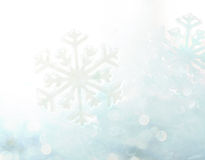 Abstrakt bakgrund för snöflinga för vinterblåttbokeh Royaltyfri Foto