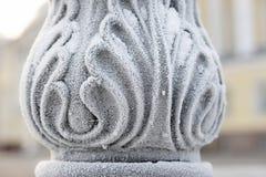 Abstrakt bakgrund - fryst järn som gjutas Royaltyfri Bild