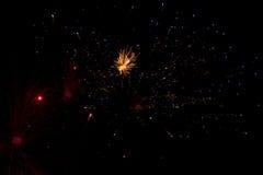 Abstrakt bakgrund: Fyrverkerier som ser som galax Arkivbild