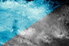 abstrakt bakgrund Grovt vatten med färgstänk Royaltyfria Bilder