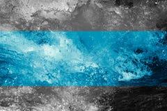 abstrakt bakgrund Grovt vatten med färgstänk Royaltyfri Foto
