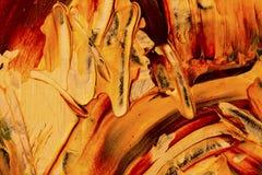 Abstrakt bakgrund, gult och rött vaggar Arkivbilder