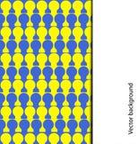 Abstrakt bakgrund i form av blått- och gulingcirklar Arkivbilder