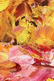 Abstrakt bakgrund i pastellfärgade signaler av gult och rött Royaltyfria Foton