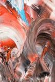 Abstrakt bakgrund i pastellfärgade signaler av rött och svart Royaltyfri Fotografi