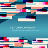 Abstrakt bakgrund i röda, orange, gröna och blåa färger vektor illustrationer