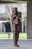 abstrakt bakgrund isolerad modern skulpturwhite Royaltyfria Bilder