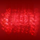 abstrakt bakgrund Mörker - röd vektormodell med kulöra sfärer stock illustrationer