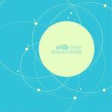 Abstrakt bakgrund med överlappande cirklar Arkivfoton