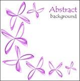 Abstrakt bakgrund med abstrakta fjärilar av lilor färgar vektor illustrationer