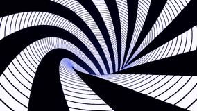 Abstrakt bakgrund med animeringsnurrspiralen Abstrakt virvlande runt färgrik tratt Roterande regnbågevirvel arkivfilmer