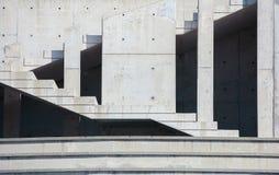 Abstrakt bakgrund med betongväggen Arkivfoton