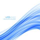 Abstrakt bakgrund med blåa band stock illustrationer