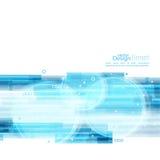 Abstrakt bakgrund med blåa band Royaltyfri Foto