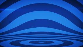 Abstrakt bakgrund med blåa koncentriska cirklar vektor illustrationer
