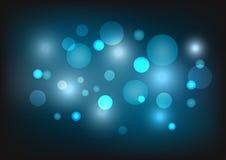 Abstrakt bakgrund med blåttsignalljuset Royaltyfri Bild