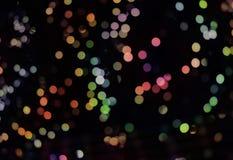 Abstrakt bakgrund med bokehljus och stjärnor Fotografering för Bildbyråer