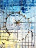 Abstrakt bakgrund med brutet exponeringsglas Royaltyfri Fotografi