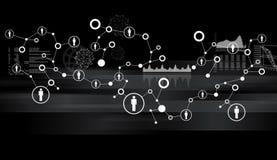 Abstrakt bakgrund med datorsymboler Royaltyfri Bild