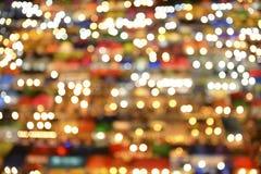 Abstrakt bakgrund med defocused ljus för bokeh Royaltyfri Fotografi