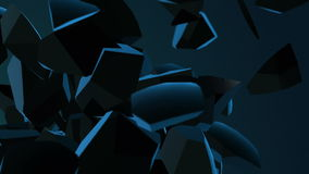 Abstrakt bakgrund med den exploderande sfären stock video