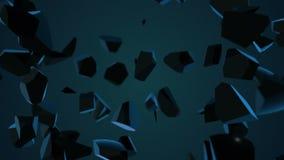 Abstrakt bakgrund med den exploderande sfären lager videofilmer